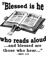 Blessed is he who reads aloud